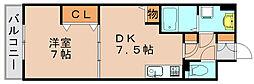 ルミエール東雲[2階]の間取り
