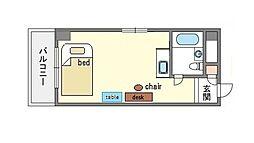 家具付きシンプルプチメゾン薬院 S[2階]の間取り