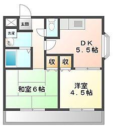 フェリエ甲子園[1階]の間取り