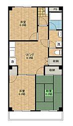 パールマンション2[1階]の間取り