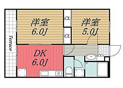エントピア成田湯川[1階]の間取り