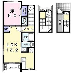 カ−サプラシ−ド[3階]の間取り