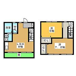 [テラスハウス] 岐阜県各務原市蘇原沢上町2丁目 の賃貸【/】の間取り