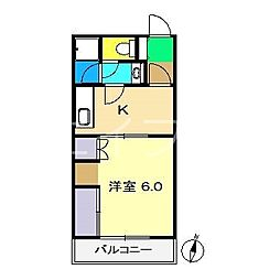 サンハイツII(介良)[3階]の間取り