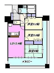 サーパス茅ヶ崎第2[14階]の間取り