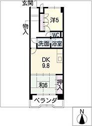 レジデンス野並[7階]の間取り