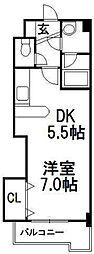 コンパス琴似[2階]の間取り