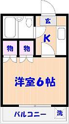 コーポすみれ[2階]の間取り