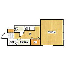 L collection 旭町[102号室]の間取り