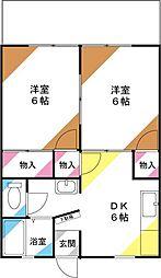 サンシティ川崎[101号室]の間取り