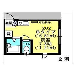 Well−B横濱反町II[0202号室]の間取り