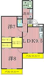 アルファタウン天王台[1階]の間取り
