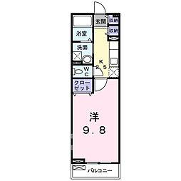千葉県松戸市中根の賃貸アパートの間取り