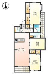 シンフォニー城見[2階]の間取り