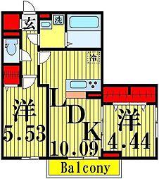 (仮)D−room加賀[2階]の間取り