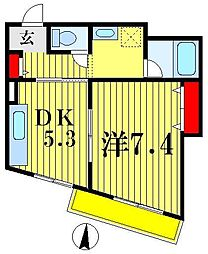 松戸駅前ハイツ[5階]の間取り