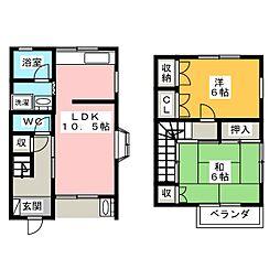 メゾンホウセン1[2階]の間取り