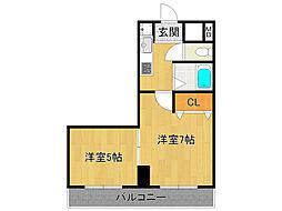 フェンテ武庫之荘[4階]の間取り