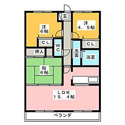 ロイヤル東栄[5階]の間取り
