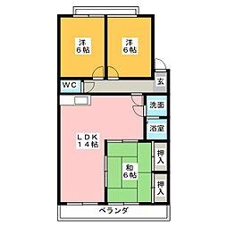 東昭ビル[3階]の間取り