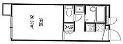 京都府宇治市木幡東中の賃貸アパートの間取り