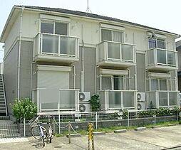 京都府京都市左京区北白川蔦町の賃貸アパートの外観