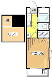 サンテラス本町弐番館[1階]の間取り