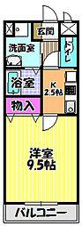 田井戸ハウス[202号室]の間取り
