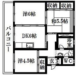 芳川マンション[D-40号室]の間取り