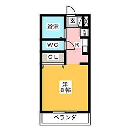 コスモス24[3階]の間取り