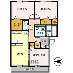 大阪府大阪市平野区加美東5丁目の賃貸アパートの間取り