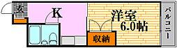 キュービック30[402号室]の間取り