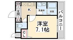 リーガルコート山本駅前[206号室]の間取り