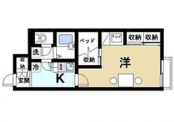 近鉄天理線 天理駅 バス10分 佐保の庄下車 徒歩27分の賃貸アパート 1階1Kの間取り