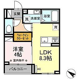 エスペランサ21 3階1LDKの間取り