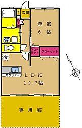 東京都町田市小川2丁目の賃貸マンションの間取り