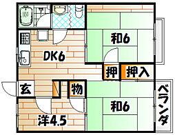 フォーブル力丸[2階]の間取り