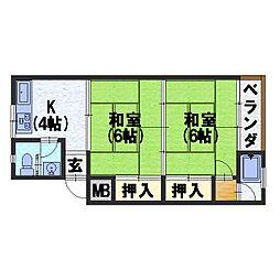第一大北マンション[3階]の間取り