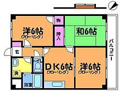 サンクーラム[2階]の間取り