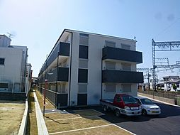 大阪府羽曳野市高鷲10丁目の賃貸アパートの外観