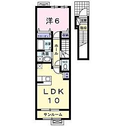パインコ−ン 2番館[2階]の間取り