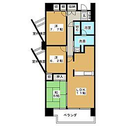 愛知県名古屋市千種区丘上町1丁目の賃貸マンションの間取り