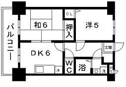 フィデスローザ[2階]の間取り