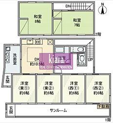 [一戸建] 神奈川県横浜市南区別所2丁目 の賃貸【/】の間取り
