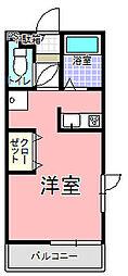 巡見アパート C棟[203号室]の間取り