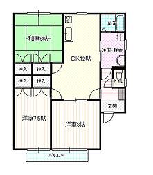 長野県長野市大字稲葉南俣の賃貸アパートの間取り