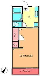 クローバーハウスC棟[2階]の間取り