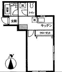 東京都荒川区南千住5丁目の賃貸アパートの間取り