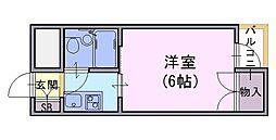 ヤングビレッジキリシマ[302号室]の間取り