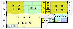 アネックス三苫II[4階]の間取り